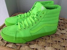 LIMITED EDITION GREEN VANS HI TOPS - 8.5 UK - RARE - FAST SHIPPING