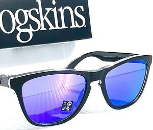50c6ee5913d Image is loading NEW-Oakley-Frogskins-BLACK-CHECKBOX-VIOLET-Iridium -Sunglass-