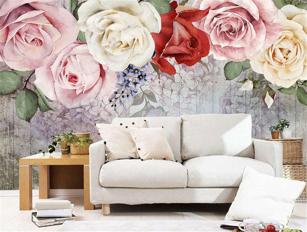 Sober Coherent Rose 3D Full Wall Mural Photo Wallpaper Printing Home Kids Decor