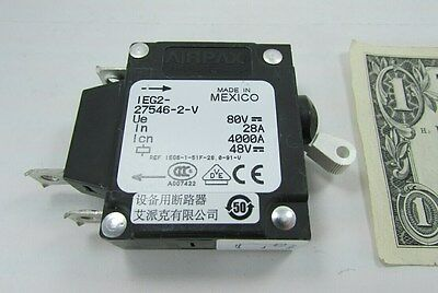 New Airpax 28A 35A Trip 80 VDC Circuit Breaker Switch IEG2-27546-2-V Magnetic