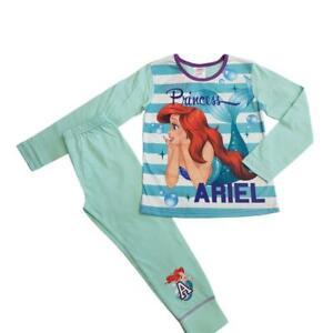 Girls-Disney-Princess-Little-Mermaid-Ariel-Pyjamas-set-pjs-4-5-to-9-10-years