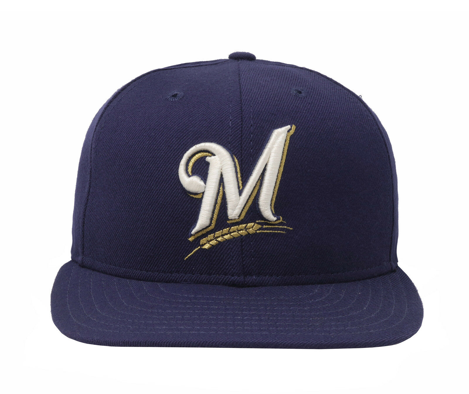 fa2784f483445 ... adjustable hat 416b5 9e6d9  low price new era 59fifty mlb cap milwaukee  brewers mens kids kids kids navy blue fitted