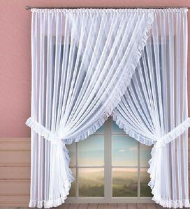 sch nes wei lang kurz voile netz vorhang startseite fenster dekoration ebay. Black Bedroom Furniture Sets. Home Design Ideas