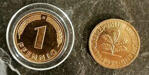10X-1-echter-Pfennig-vergoldet-Glueckspfennig-Goldpfennig-Geburtstagspfennig