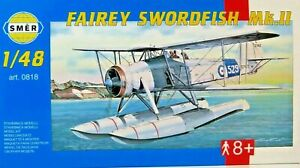 SMER-Fairey-Swordfish-Mk-II-britanica-UK-WW-II-kit-1-48-0818-ovp-nuevo
