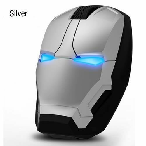 Gold 2.4G Iron Man USB Wireless Game Mouse For PC