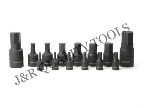 14pc Hex Allen Driver Impact Socket Set SAE Standard