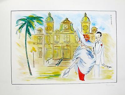 "PIROSKA KEVESI /""MONTE CARLO/"" Hand Signed Lithograph from the 1987 CASINO Series"