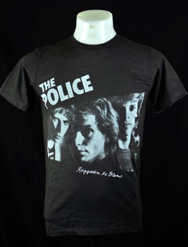 THE POLICE Retro Rock Dark Grey 100/% soft cotton crew Tee T-Shirt Size S