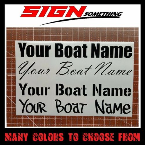 Sticker custom customizable Your Boat Name Decal