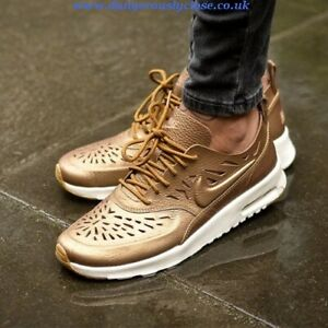 Details about New NIKE AIR MAX THEA JOLI LEATHER SNEAKERS wmn USszs: 5; 10; 11,5 GOLDEN 725118