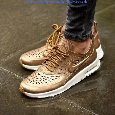 New NIKE AIR MAX THEA JOLI LEATHER SNEAKERS wmn USszs: 5; 10; 11,5 GOLDEN 725118 | eBay