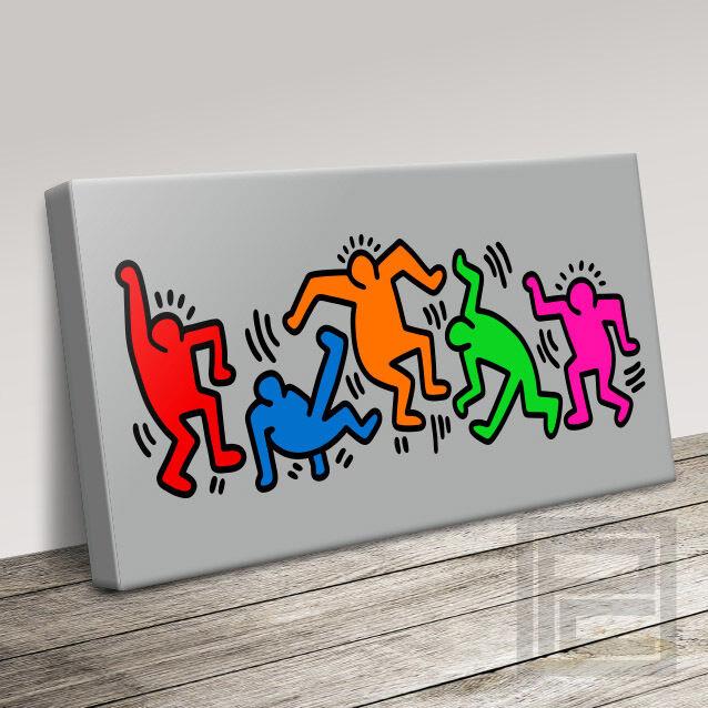 HARING style ultra classique moderne & emblématique Pop Art Toile Impression Art Williams