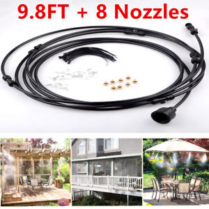 Details about 10ft Outdoor Water Misting System Air Cooler Patio Mister Kit  Pool Deck Garden