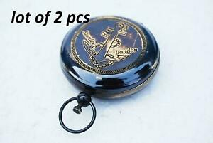 Vintage-Pocket-Compass-Nautical-Decorative-Brass-Push-Button-Compass-Maritime