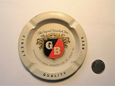 Initiative Gb Beer 1950's Metal Ashtray Griesedieck Bros Brewery St Louis In Short Supply Ashtrays