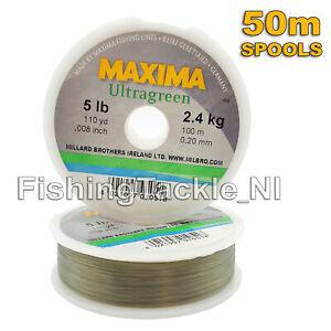 MAXIMA-ULTRAGREEN-Ligne-de-peche-Hi-de-traction-Monofilament-2lb-30lb-bobines-de-50-m
