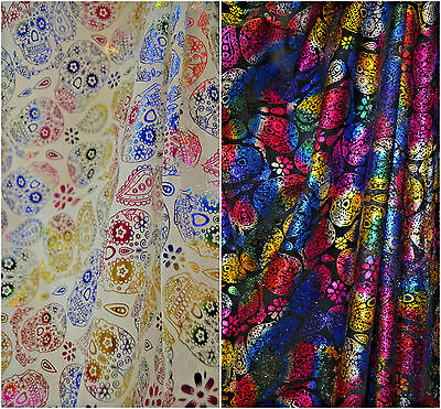 Day Of The Dead Skeletons Halloween Mexican 100/% Cotton Fabric 150cm Wide SKULLS