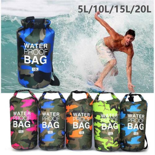 Camouflage Portable Rafting Dry Bag Sack PVC Waterproof Folding Storage Bag