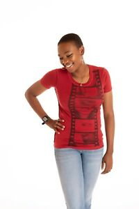 D-amp-G-Dolce-and-Gabbana-Womens-Red-T-shirt-Made-in-Italy-Size-36