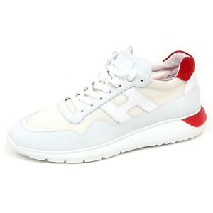 Image is loading E9758-Mens-Trainers-White-Red-Hogan-Interactive-3- f83fcaaf949