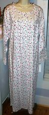 NWT 1X Eileen West Pockets Nightgown NEW Feather Flannel Gown $82 Floral
