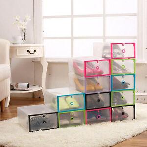 Image is loading Plastic-Shoebox-Multi-purpose-Plastic-Shoe-Box-Transparent- & Plastic Shoebox Multi-purpose Plastic Shoe Box Transparent Crystal ...