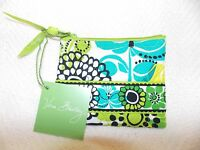 Vera Bradley Lime's Up Coin Purse Retired Free Shipping