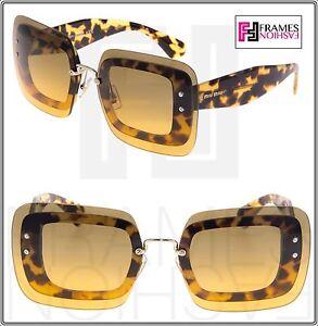 2f39fa5b4f22 Image is loading MIU-MIU-REVEAL-Shield-Square-Sunglasses-MU02RS-Transparent-