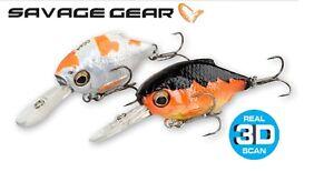 Savage-Gear-3D-le-Cyprin-Manivelle-Fishing-Lure-3-4-6-4cm-3-0-23-g-Couleurs-Diverses