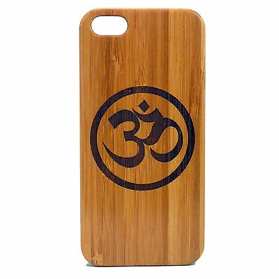 OM Symbol Case for iPhone 7 Bamboo Wood Cover Sanskrit Mantra Hindu Pranava Yoga