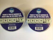 2 New Rolls Ipg Aluminum Foil Tape 188 X 50 Yd Silver Fix Repair 2 Hvac