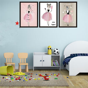 Image Is Loading Kawaii Girls Poster Print Canvas Painting Kids Baby