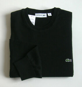 Superbe-Pullover-Noir-neuf-Col-rond-100-coton-034-Lacoste-Devanlay-034-T-4-ou-M