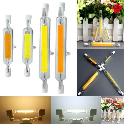 R7s LED Dimmable 118mm 78mm COB Bulbs 7W 12W 15W 25W Ceramic Glass Tube Light RM