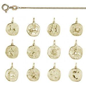 Aggressiv Echt Gold 585 Ihr Sternzeichen Gravur Anhänger Mit Name Datum Mit Silber Kette Kunden Zuerst