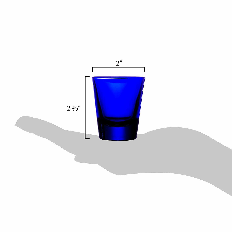 (Case of 72) Libbey bleu cobalt 1.5-oz Whiskey Verres De Bar-verre