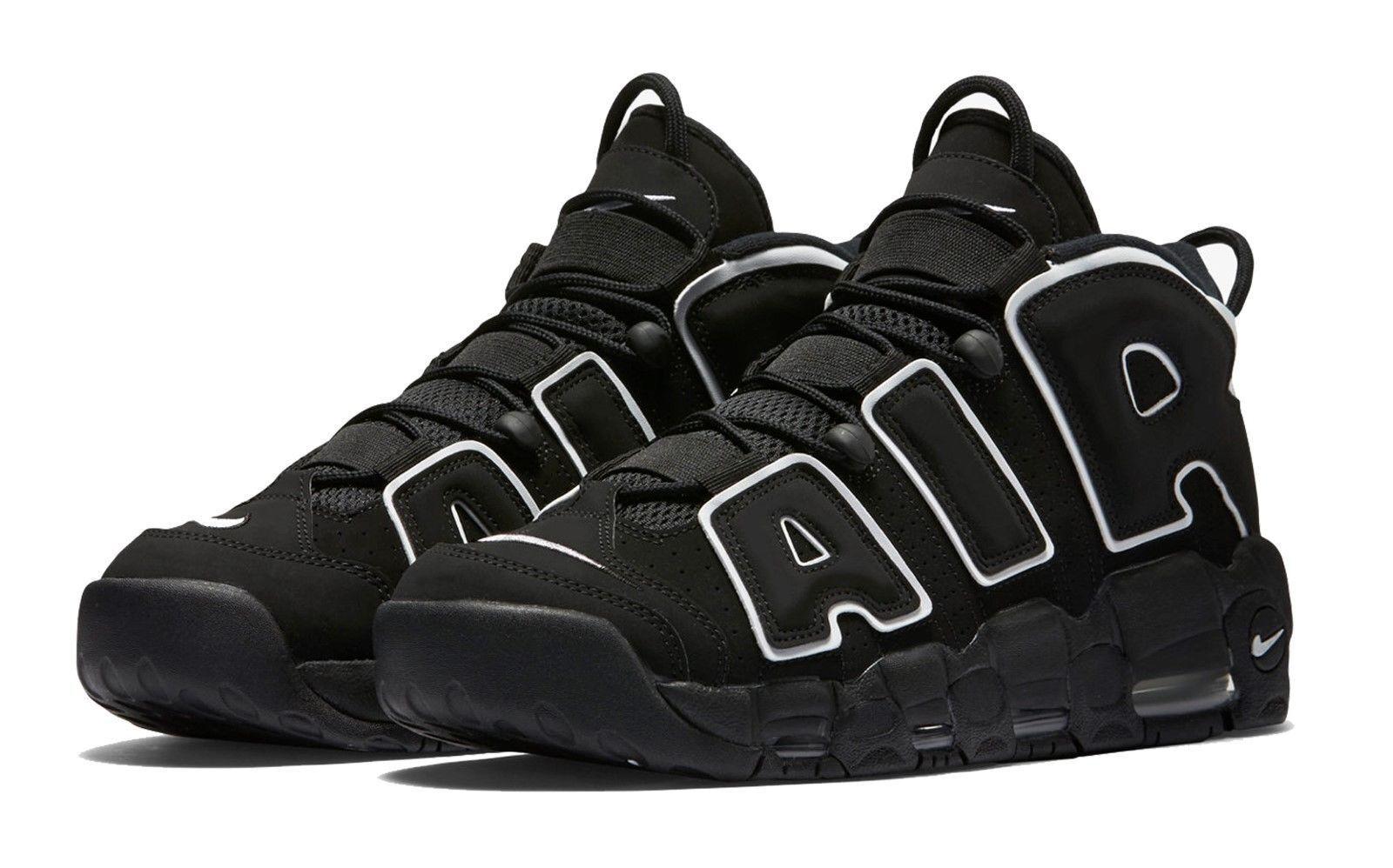 New 2016 Nike Black AIR MORE UPTEMPO Scottie Pippen 1996 Retro Sneakers Mens 12