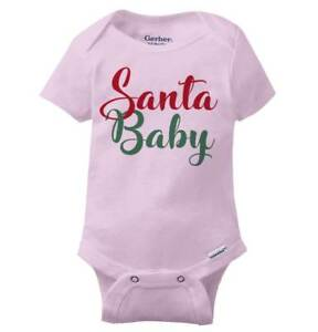 Santa Claus Baby Funny Shirt Cool Gift Cute Christmas Present Gerber Onesies