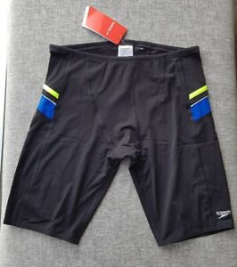 SPEEDO-MENS-Endurance-Macca-Jammer-Size-18-90cm-36-039-039-XL-Black-Blue-Lime-Surf