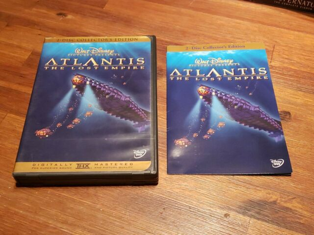 Atlantis: The Lost Empire (DVD, 2002, 2-Disc Set, Special Edition) AUTHENTIC
