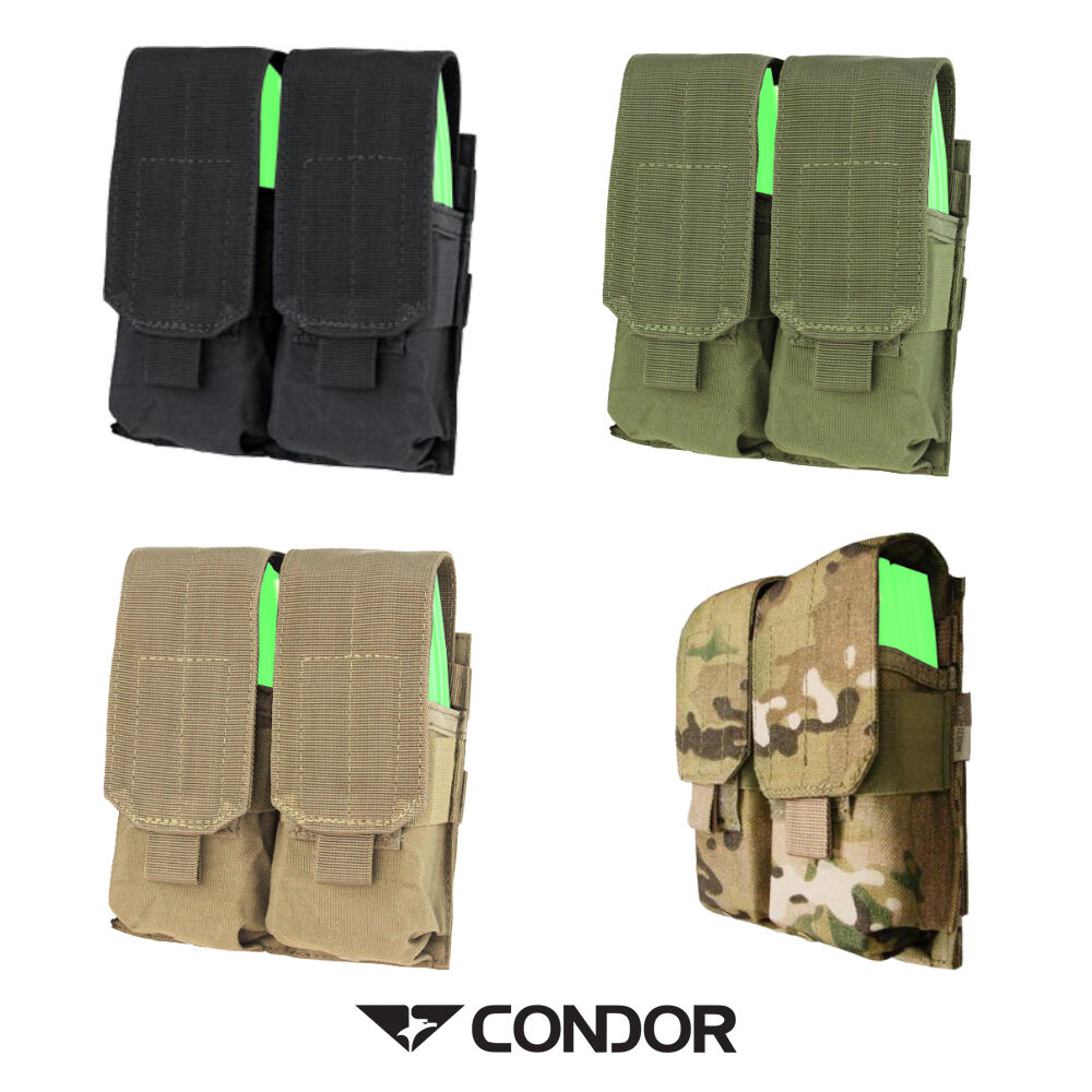 Condor Double Magazine Pouch for Airsoft Military Molle Mounting MA4
