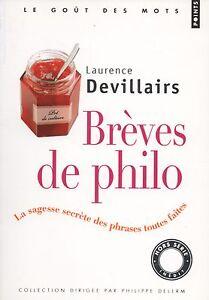 BRÈVES DE PHILO - LAURENCE DEVILLAIRS