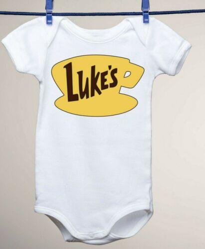 Gilmore Girls Inspired Luke/'s Diner Design on a Baby Gerber Onesie