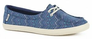 Details about Vans Off the Wall Womens Surf Shoes Rata Lo Tribal STV Navy Blue Flats 5.5 NWT