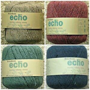 Knitting-Wool-50g-Echo-Recycled-Cotton-DK-Double-Knitting-Knitting-Wool-Yarn