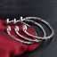Fashion-Women-925-Sterling-Silver-Hoop-Sculpture-Cuff-Bangle-Bracelet-Jewelry-UK thumbnail 3