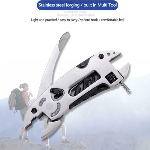 Multifunction Outdoor Pocket Metal Tool Pliers Spanner Wrench Screwdriver