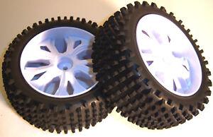 BS937-009-Echelle-1-10-RC-Buggy-Off-Road-roues-et-pneus-avant-blanc