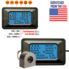 Us Ac 110v 220v Voltage Current Amp Power Factor Kwh Frequency Combo Panel Meter